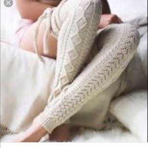 Free people knit leg warmers